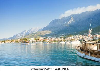 Makarska, Dalmatia, Croatia, Europe - Setting sail from the harbor of Makarska