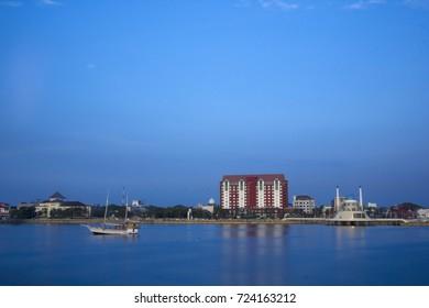 MAKASSAR, INDONESIA. 20th September 2012. Losari Beach Makassar Indonesia
