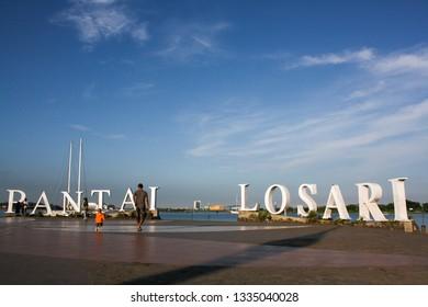 Makassar, South Sulawesi / Indonesia - July 09 2010 : Blue sky in Losari Beach