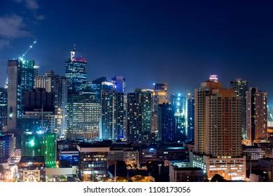 Makati city of Manila at Night