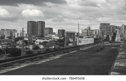 Makati City, Philippines - November 12, 2017: Urban scene at Edsa-Guadalupe Road