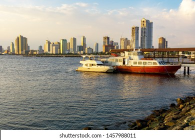 Makati view from Manila Bay in the Philippines.