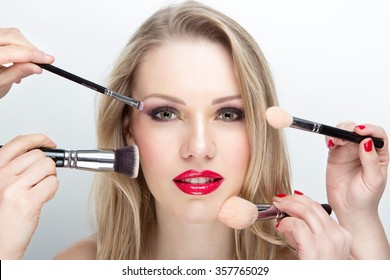 make up artist work white