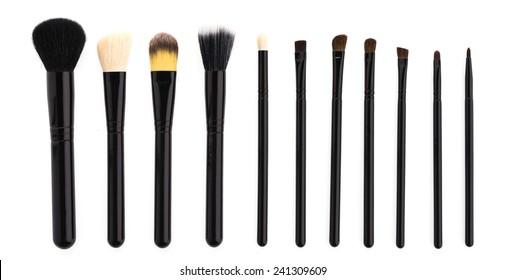 Make up brush isolated on white background