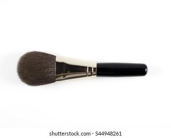 make up brush on white background
