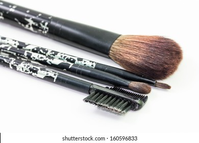 Make Up Brushes on White Background