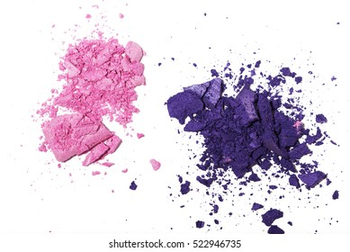 Make up color shadows isolated on white background