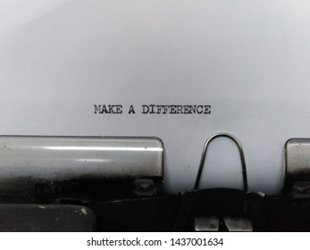 Make a difference - quote