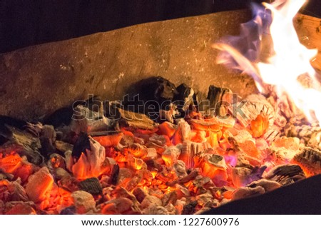 Make Fire Heat Embers Hot Coal Stock Photo Edit Now 1227600976