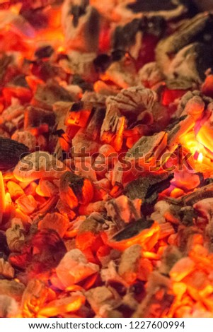 Make Fire Heat Embers Hot Coal Stock Photo Edit Now 1227600994