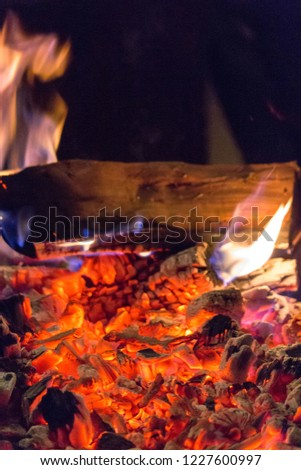 Make Fire Heat Embers Hot Coal Stock Photo Edit Now 1227600997