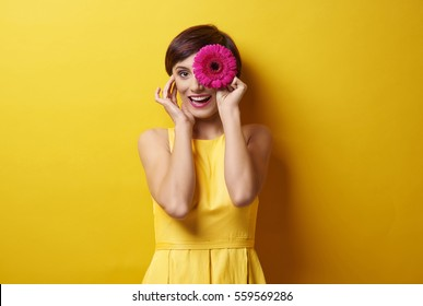 Make funny faces with flower