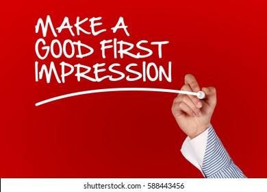 Make A Good First Impression concept