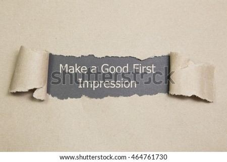 First impression message