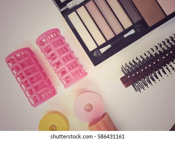 Make up and hair set equipment for background