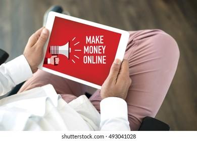 MAKE MONEY ONLINE CONCEPT