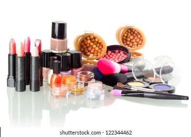 Make up set isolated on white background