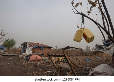 Makeshift camp for displaced persons in Juba, South Sudan.