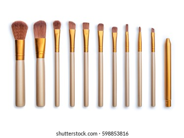 Makeup brush isolate on white background
