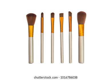 Makeup brush, isolated on a white background