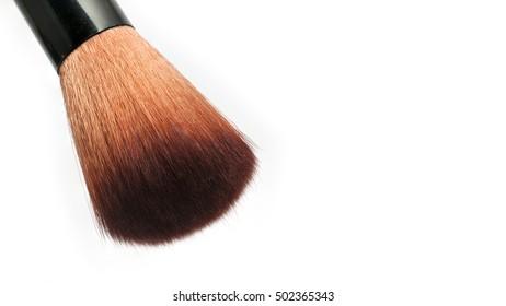 Makeup brush on isolated white background
