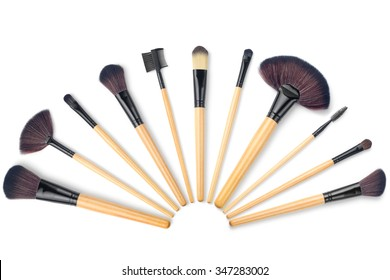Makeup Brush, on a white background, isolated, high quality