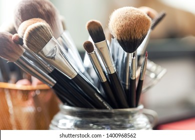 Makeup Brush set artist background