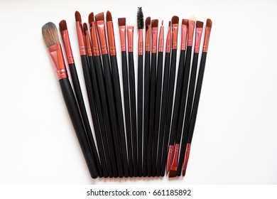makeup brush/ A makeup brush is a tool with bristles, used for the application of make up or face
