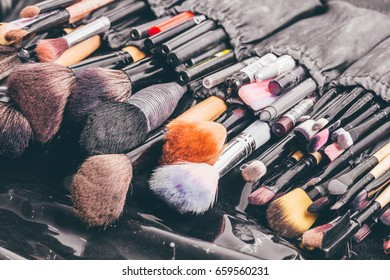 Make-up brushes and cosmetics