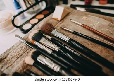 Makeup brushes, salon