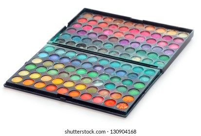 Makeup colorful eyeshadow palettes - used product.