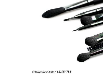 Makeup Concealer Powder brushes set isolated on white background