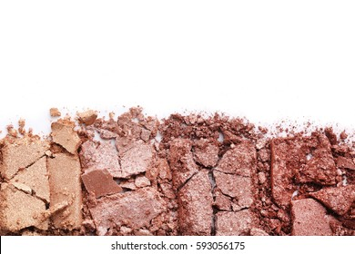 Makeup eyeshadow on a white background