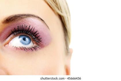 makeup of a female eye