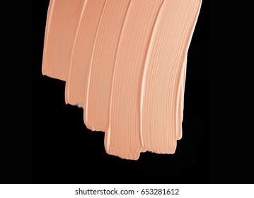 Makeup foundation blur cream black background