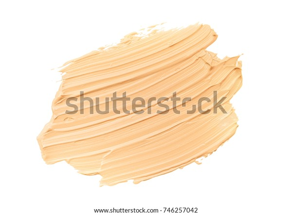 Makeup foundation blur cream white background