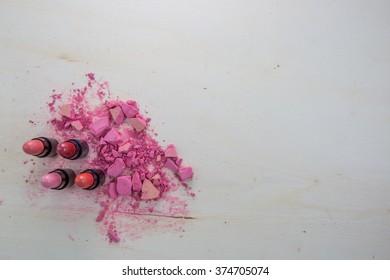 Makeup, lipstick, eyeshadow