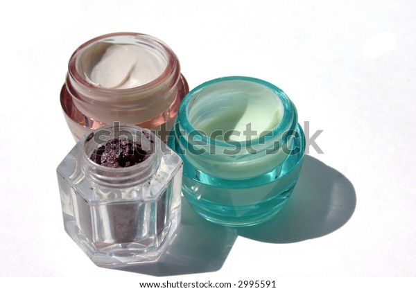 Make-up lotions and creams isolated