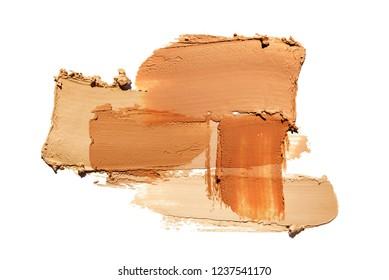 Make-up matte mousse foundation bb-cream smudge powder creamy white isolated  background
