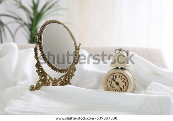 Makeup mirror with Alarm clock