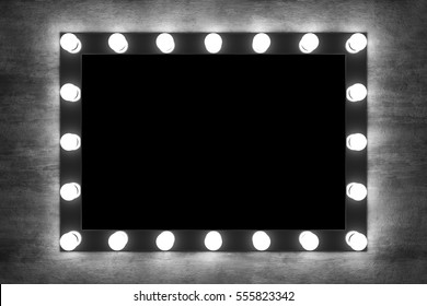 Vanity mirror lights images stock photos vectors shutterstock makeup mirror on the concrete wall grunge wall with mirror 3d rendering mozeypictures Image collections