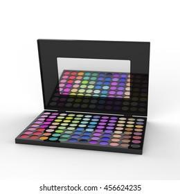 Makeup palette. 3D Rendering.