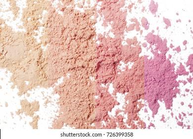 Makeup powder background - warm pink tones