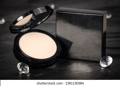 Make-up Powder with Black Background