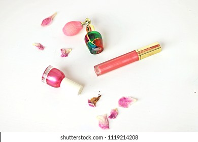 Makeup Products with Flower Petals