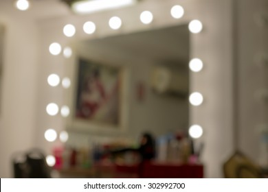 Makeup room blur and bokeh