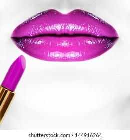 Makeup. Square composition.