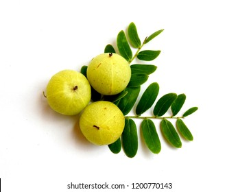 Makhampom or  Indian gooseberry on white background
