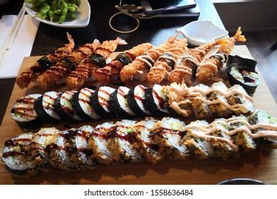Maki Rolls with Tempura Shrimp