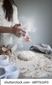 Making Bread (Flour everywhere)